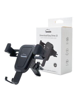 Suport universal pentru telefon mobil Silvercloud Easy Drive 25 in grila de ventilatie